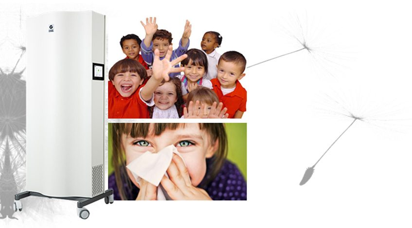 """Genano air purifiers are designed to continuously recycle and purify indoor air, thus prevent teachers, students and other administrators from contagious diseases (Hand, foot, and mouth disease, Viral Infection, Roseola, Skin infection, Impetigo, Fifth Disease (""""Slapped Cheek""""), etc.)…."""